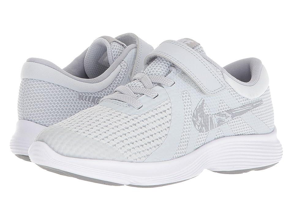 Nike Kids Revolution 4 (Little Kid) (Pure Platinum/Wolf Grey/White) Boys Shoes