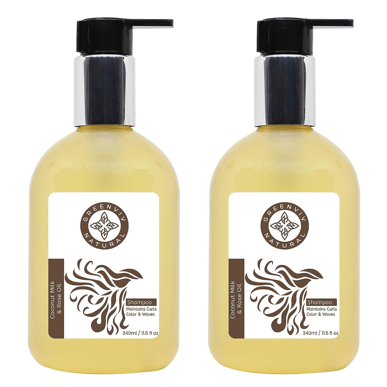 Greenviv sold out Natural Hair 2021new shipping free shipping Shampoo Coconut Rose Oz Fl 11.5 Milk