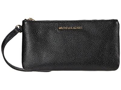 MICHAEL Michael Kors Jet Set Medium Wristlet (Black) Handbags