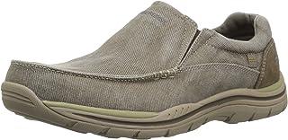 Skechers Men's Expected Avillo Slip-on Loafer,Khaki,6.5 2W US