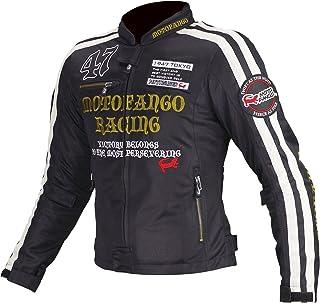 コミネ(KOMINE) バイク用 ダブルラインメッシュジャケット ブラック/ゴールド XL MJ-003 1173 春夏向け メッシュ素材 CE規格レベル2 CE規格 プロテクター