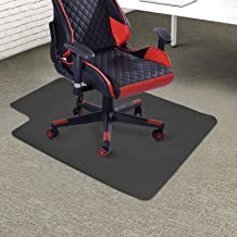 Ankishi Office Chair Mat for Carpet 47'' x 35'' Heavy Duty Thick Carpets Protector PVC Easy Clean with Lip Black