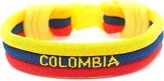 mimonos 世界杯旗手链 - 鲜亮颜色 - 3 种尺寸 - 10 国旗:美国阿根廷 巴西 哥伦比亚 法国 德国 意大利 墨西哥 西班牙 瑞典