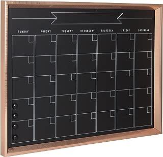 Kate and Laurel Calter Framed Magnetic Chalkboard Monthly Calendar, 21.5