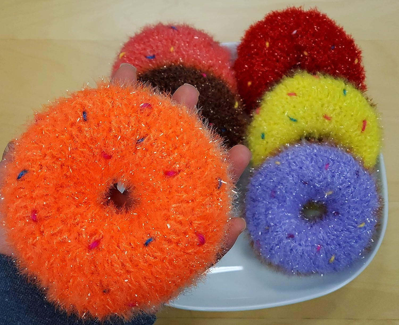 100% Handmade Dish Scrubber Crochet Design Scrubb Dishwash Gifts Manufacturer regenerated product Donut