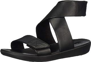 FitFlop CECILIA ADJUSTABLE STRAP SANDAL - LEATHER womens Flat Sandal