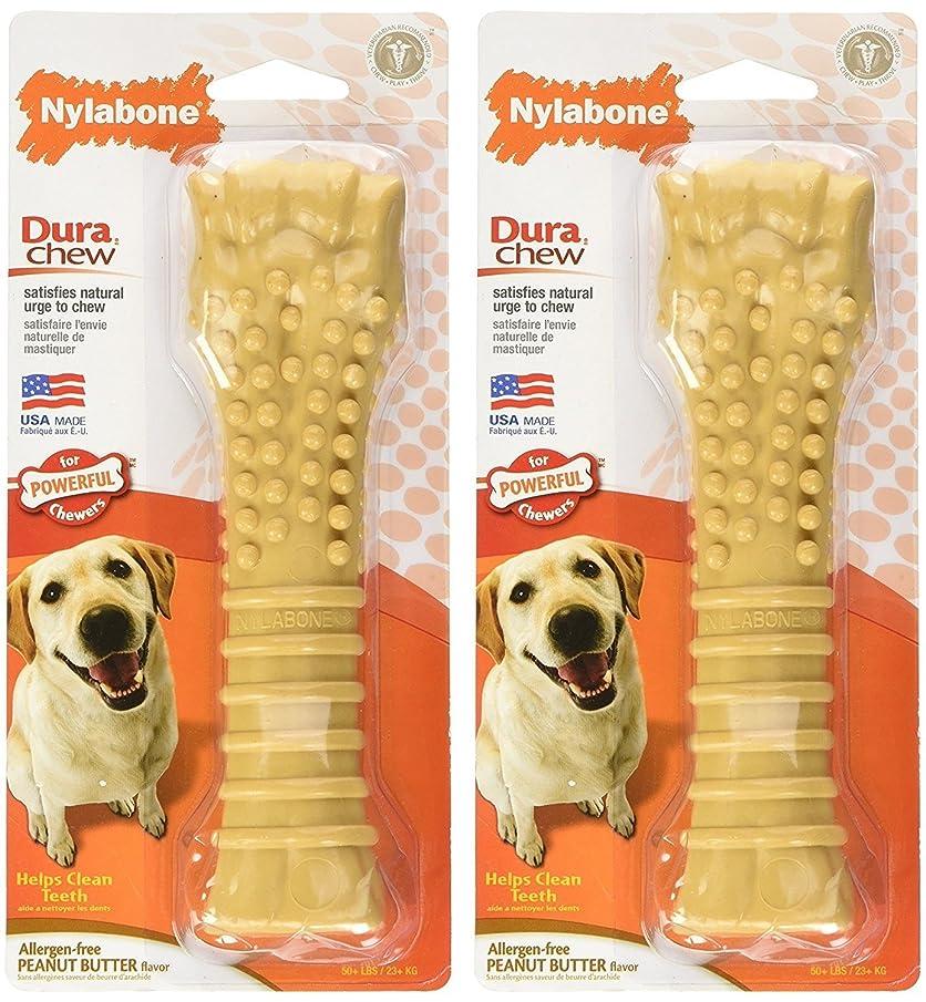 Nylabone Dura Chew Textured Toy (Peanut Butter Flavored Bone - 2 Pack)