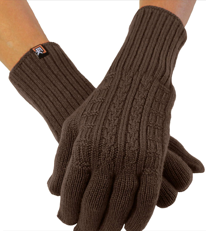 Cable Knit Gloves, Superfine Italian Merino Wool, Women's