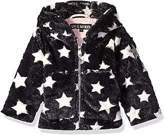 Baby Girls Star Printed Faux Fur Jacket