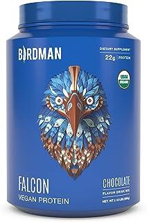 Birdman Falcon Protein Premium Vegan Protein Powder, Plant Based Protein Powder, Certified Organic, Kosher, Non Dairy, Glu...