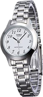 Casio Women's Analog Dial Stainless Steel Band Watch - LTP-1128A-7BRDF