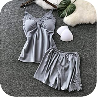 Sleepwear Nightwear Sexy V Collar Robe Satin Silk Babydoll Lace Women Nightclothes Lingerie Pyjamas Suit Nightgown