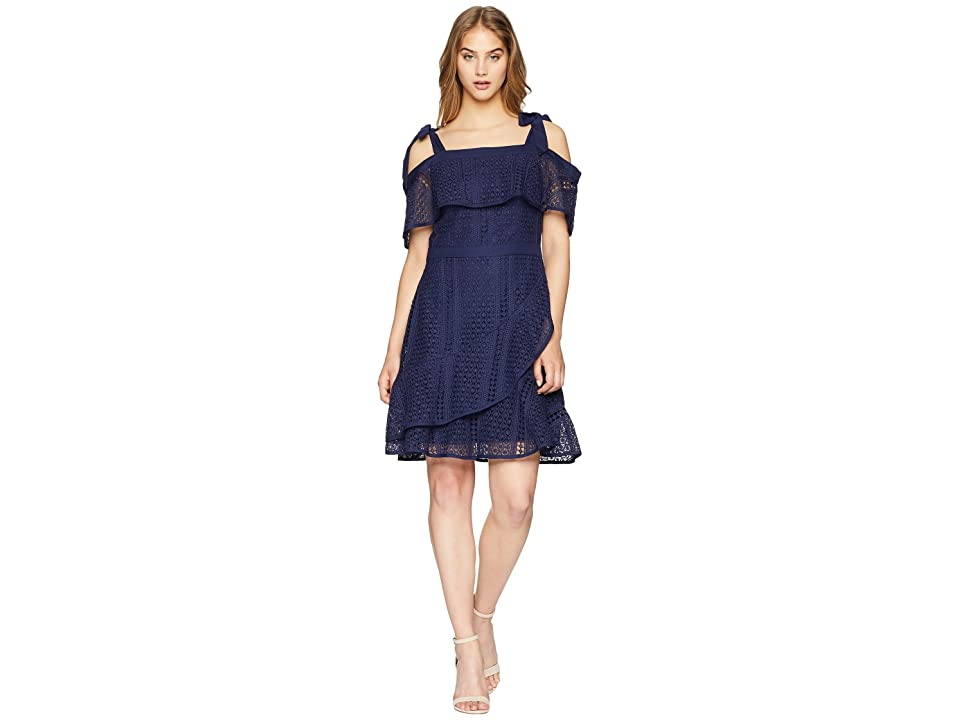 Adelyn Rae Maxine Fit and Flare Dress (Navy) Women