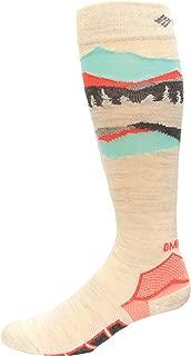 Columbia Omni Heat Ski Over the Calf Mountain Range Medium Weight Socks 1 Pair, Winter White, Medium
