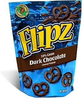 Flipz Dark Chocolate Pretzel, 4-Ounce (Pack of 6)
