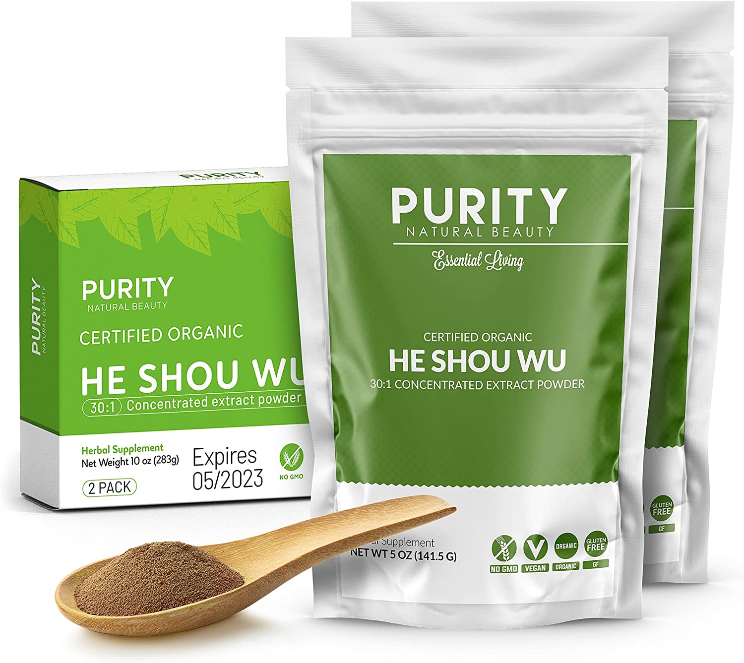 Certified Organic He Shou Wu Mail order Max 60% OFF - Bag Concentrate of 5oz Large 30:1