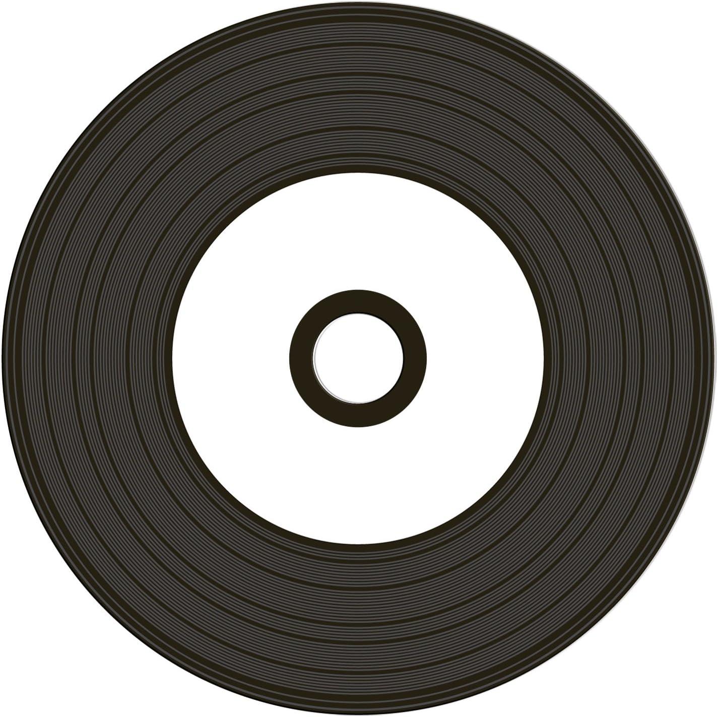 4x 25Stk 100 MediaRange Rohlinge black CD-R 52x schwarz Printable