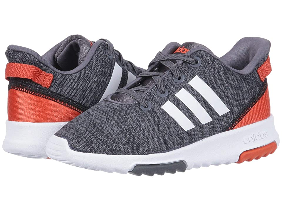 adidas Kids Cloudfoam Racer TR (Infant/Toddler) (Black/White/Raw Amber) Kids Shoes