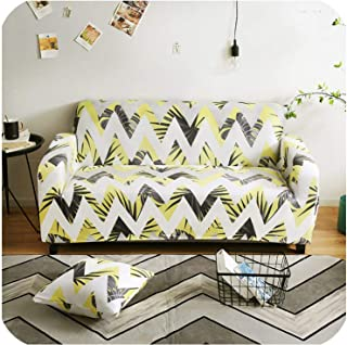 slipcovers Sofa All Inclusive sectional L Shape Couch Cover Elastic Full Sofa Cover for Living Room Chair/loveseat/Sofa/Big Sofa,Color 8,1-seat 90-140cm
