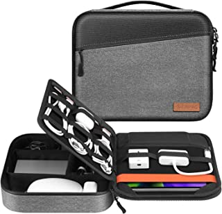 Electronic Organizer Bag, FINPAC Portable Accessories Storage for Cable/Cord/Charger/Phone/USB/SD Card, Portfolio Tablet S...