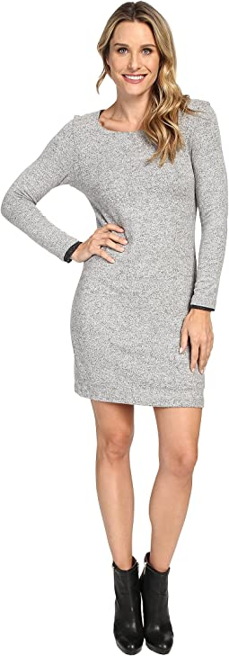 Long Sleeve Brushed Sweater Reversible Dress