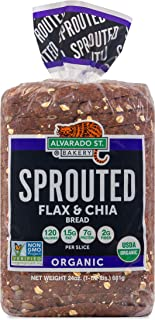 Alvarado Street Bakery USDA Organic Sprouted Wheat Bread, Flax and Chia, 24 oz (Pack of 3)