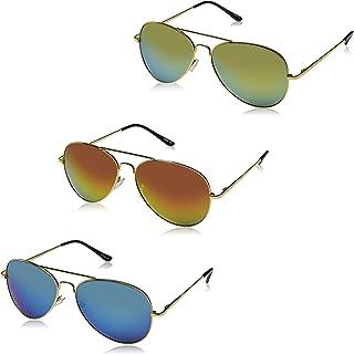Premium Full Mirrored Aviator Sunglasses w/Flash Mirror Lens