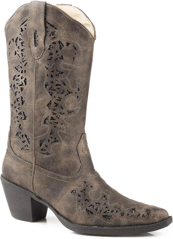 Roper Women's Alisa Metallic Inlay Boot Pointed Toe - 09-021-1556-1020 Br