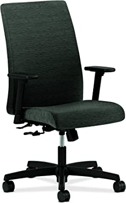 HON Ignition Series Mid-Back Work Chair - Upholstered Computer Chair for Office Desk,