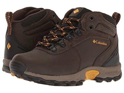 Columbia Kids Newton Ridge Waterproof (Little Kid/Big Kid) (Cordovan/Golden Yellow) Kids Shoes