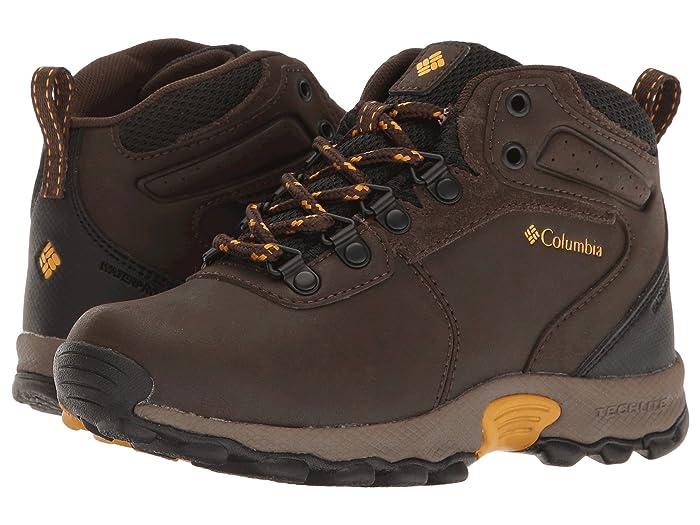 Columbia Kids  Newton Ridge Waterproof (Little Kid/Big Kid) (Cordovan/Golden Yellow) Kids Shoes