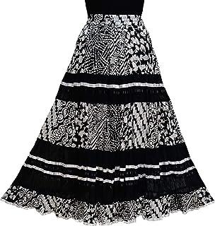 COTTON BREEZE Women's Cotton A-line Skirt Black