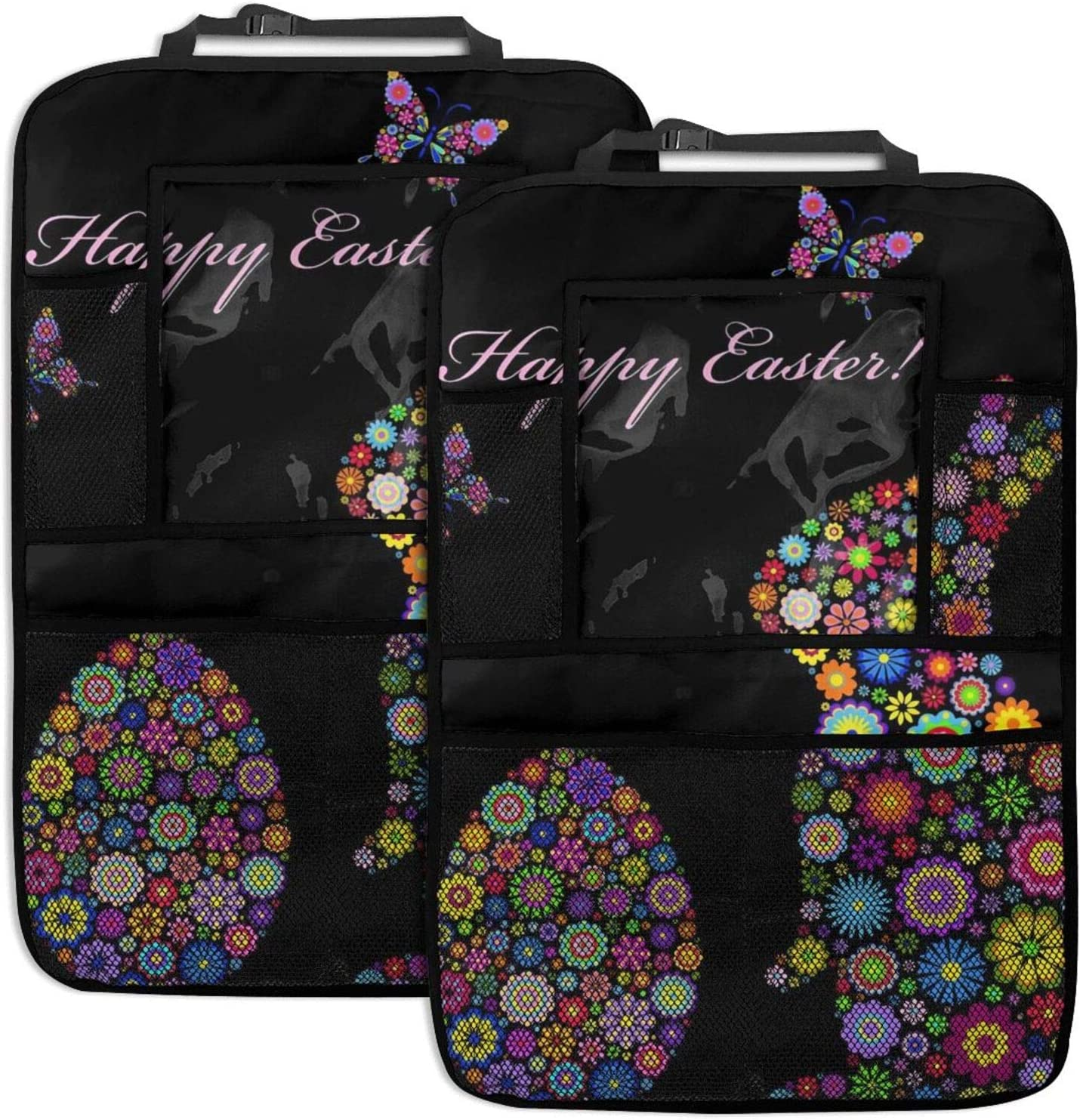 NELife Backseat Organizer 2 Pack - Egg Easter S Classic Ranking integrated 1st place Bunny Floral Car