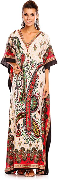 New Ladies Oversized Maxi Kimono Kaftan Tunic Kaftan Dress Free Size