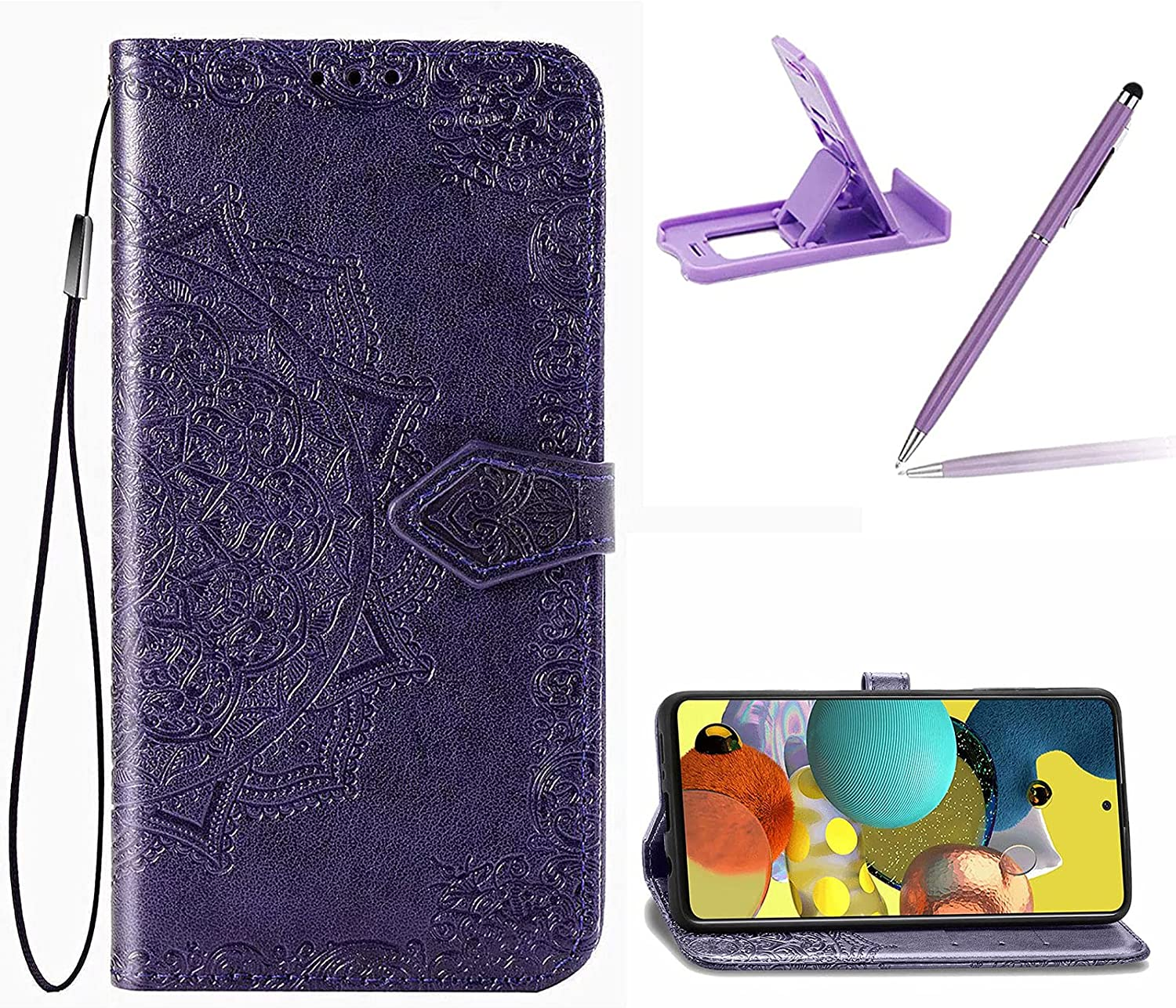 Strap Max 53% OFF Leather Case for LG 6 K71 Stylo Wallet Cover Fashion