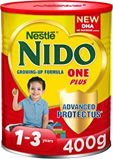 Nestlé NIDO One Plus Growing Up Milk Powder Tin For Toddlers 1-3 Years, 400g (Pack Of 1)