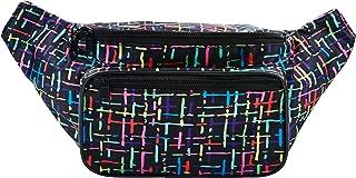 SoJourner Confetti Black Fanny Pack - Festival Packs for men, women | Cute 80s Retro Waist Bag Fashion Belt Bags