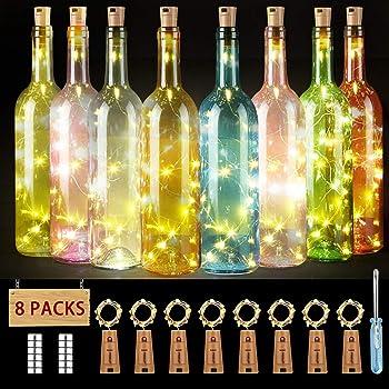 luz de botella, luz de bricolaje, luz ambiente, lámpara decorada ...