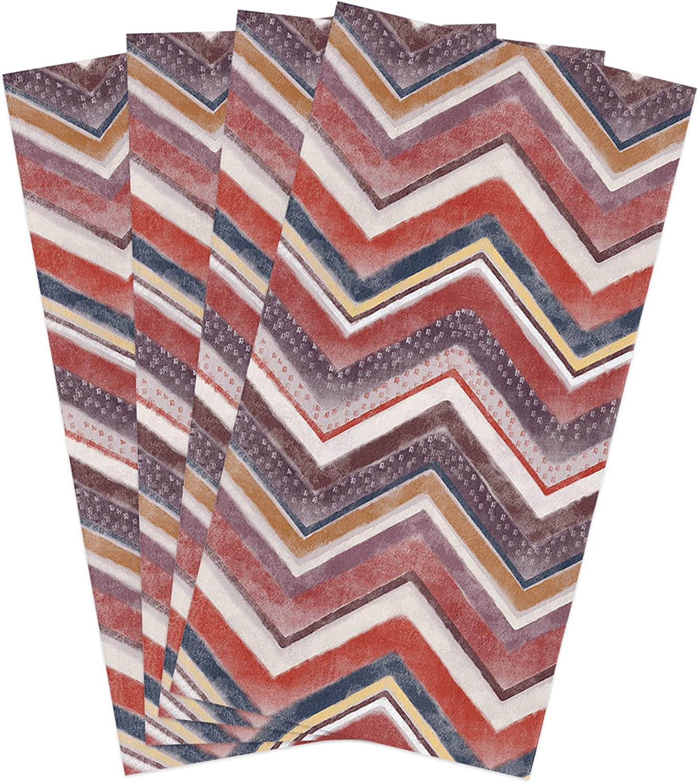 Kitchen favorite Towels Set Red Grey Popular popular Dish Geometric Towel Design Chevron