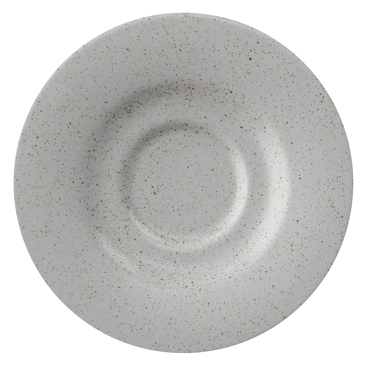 GET Porcelain Outlet ☆ Free Shipping Tea Bouillon OFFicial shop Saucer 12 Set Grey 6.5