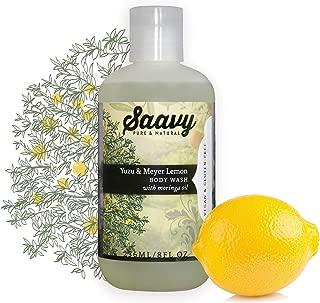 Yuzu & Meyer Lemon Body Wash | Gluten-Free, Vegan Shower Gel | Natural and Organic Body Soap | 8 oz