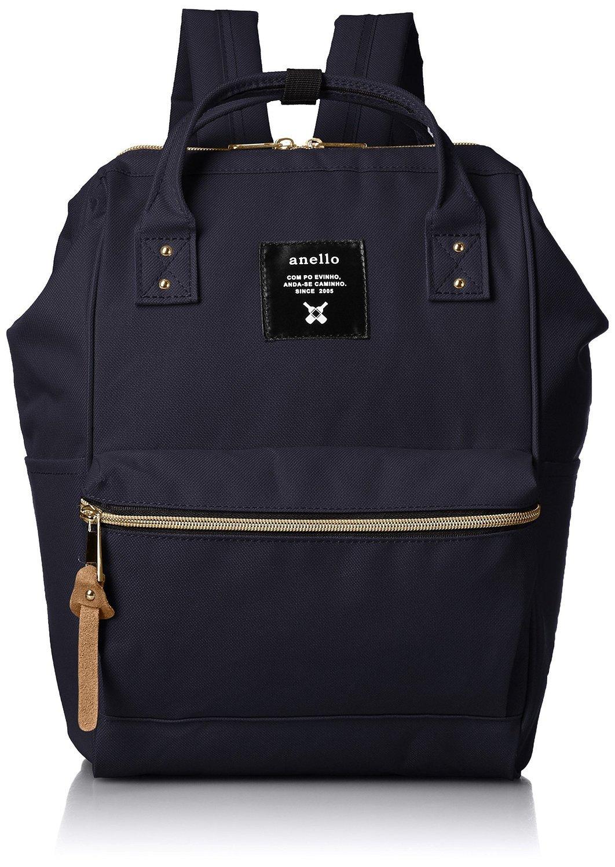 ANELLO日本进口潮牌大容量尼龙防水背包男女休闲旅行包学生双肩包书包手提包大小号12色 (小号, 蓝色)