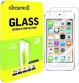 elecnewell Tempered Glass Screen Protector Compatible with iPod Touch 7G 2019 6G 5G 6th 5th Generation HD Anti Scratch Bubble Free Case Friendly