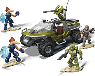 Mega Construx Halo Warthog Rally Vehicle Halo Infinite Construction Set with Master Chief Character Figure, Building Toys ...