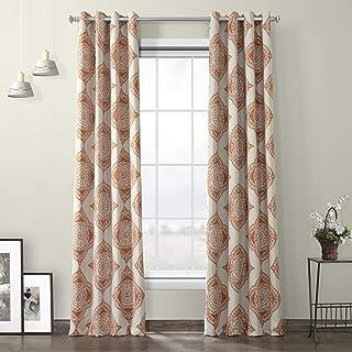 HPD Half Price Drapes BOCH-KC27-84-GR Grommet Blackout Room Darkening Curtain (1 Panel), 50 X 84, Henna