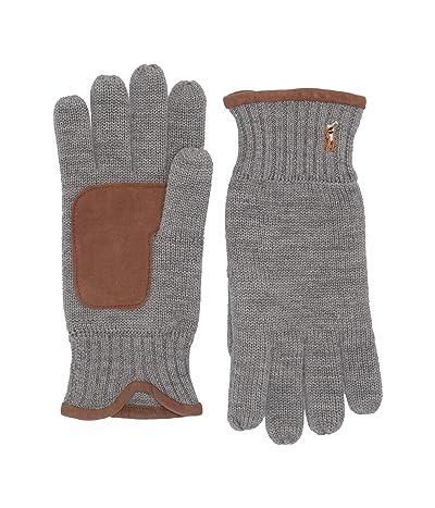 Polo Ralph Lauren Classic Lux Merino Touch Gloves (Dark Vintage Heather) Over-Mits Gloves