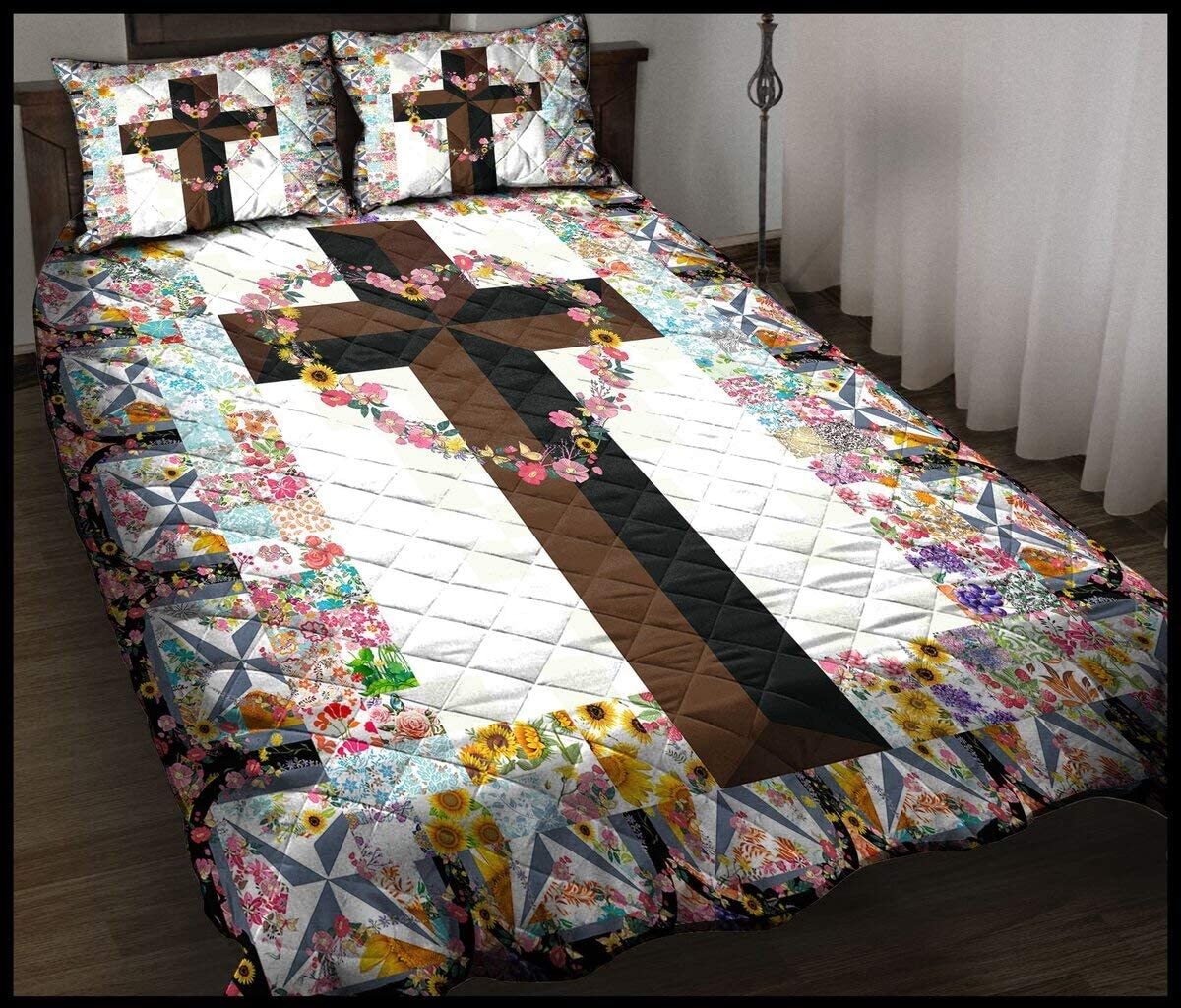 Personalized Flowers and Christian Louisville-Jefferson County Mall Cross Your Import Custom Quil Quilt
