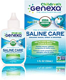 Sponsored Ad - Genexa Saline Care for Children – 1 FL OZ (30mL)   Certified Organic & Non-GMO Saline Spray/Drops for Child...