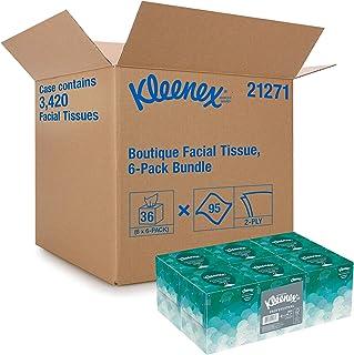 Kleenex Professional Facial Tissue Cube for Business (21271), Upright Face Tissue Box, 6 Bundles/Case, 6 Boxes/Bundle, Pac...