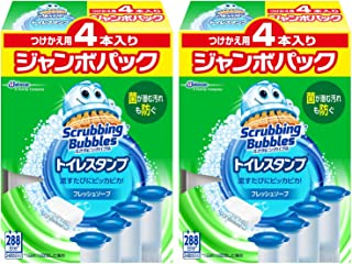 【まとめ買い】 スクラビングバブル トイレ洗浄剤 トイレスタンプ フレッシュソープの香り 付替用 ジャンボパック (4本入り×2箱) 8本セット 48スタンプ分